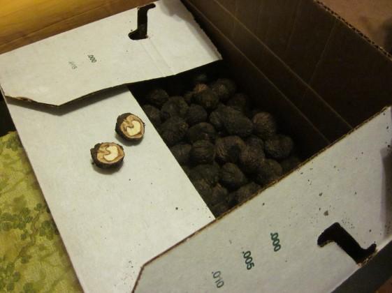 walnuts in a box