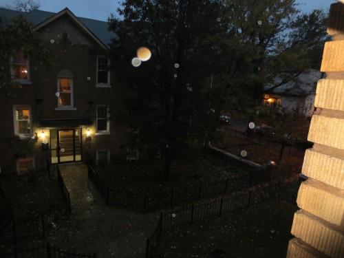 rainy night scene