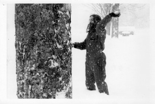 A picture of my dad, Chuck Kennedy, throwing snowballs in Lanesville, NY, circa 1970. Gotta love the snow suit.