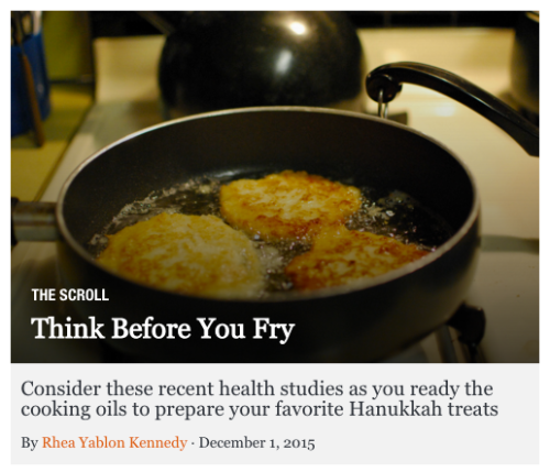 Think Before You Fry: Latkes frying in a pan